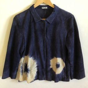Miu Miu Vintage Blue Suede Jacket size 44